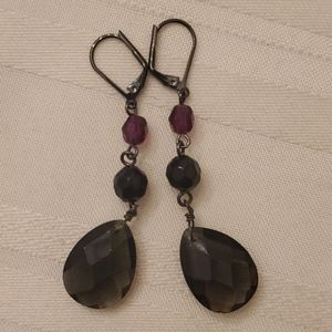 * 5/$20 * lia sophia Black Drop Earring